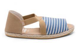 Fit Sandal Navy Striped